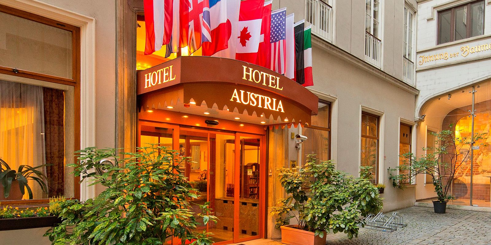 Außenansicht Hotel Austria Wien