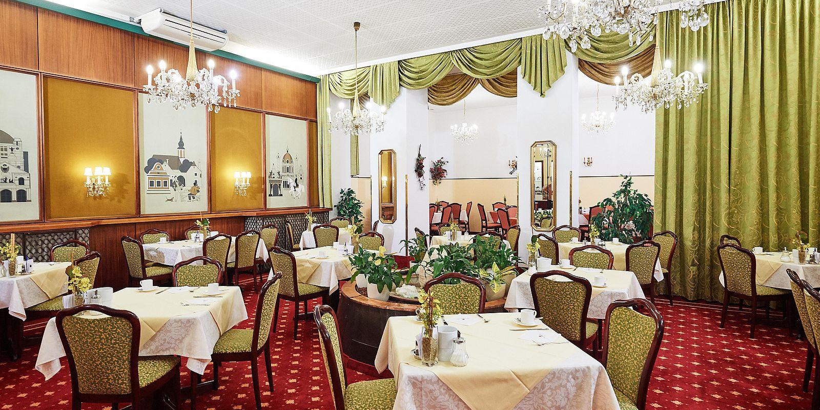 Frühstücksraum im Hotel Austria, Wien