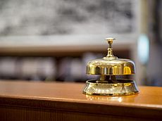 Rezeptionsklingel im Hotel Austria