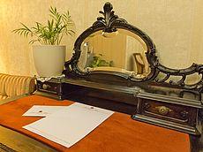 Schreibtisch in der Lobby
