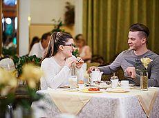 Reichhaltiges Frühstück im Hotel Austria