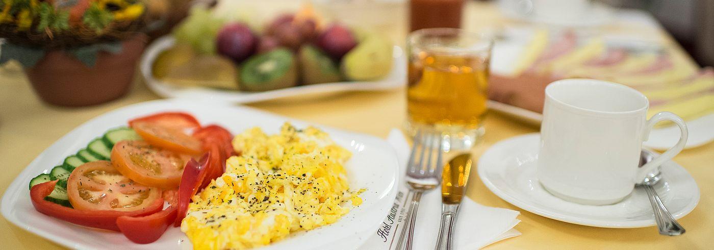 Frühstück am Zimmer