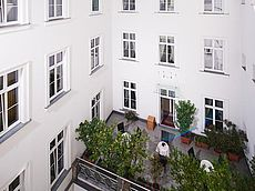 Unsere gemütliche Terrasse im Innenhof