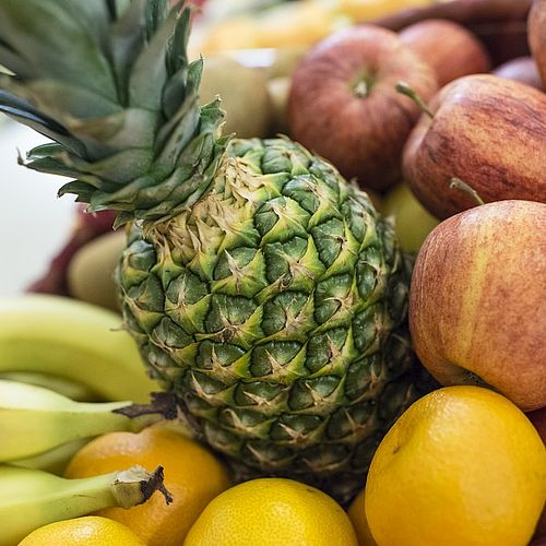 Reichliche Auswahl an Obstsorten